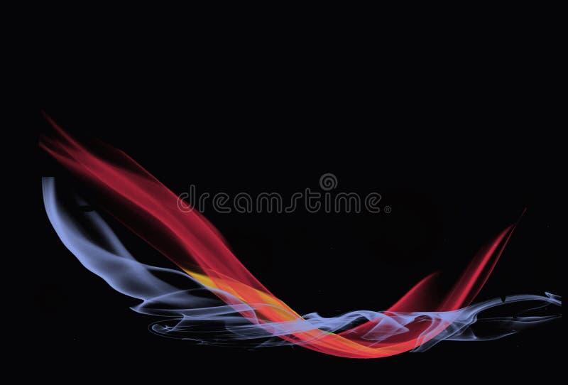 Jatos abstratos transparentes do fumo imagens de stock royalty free