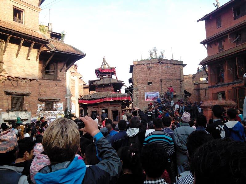 jatra in Bhaktapur stock afbeeldingen