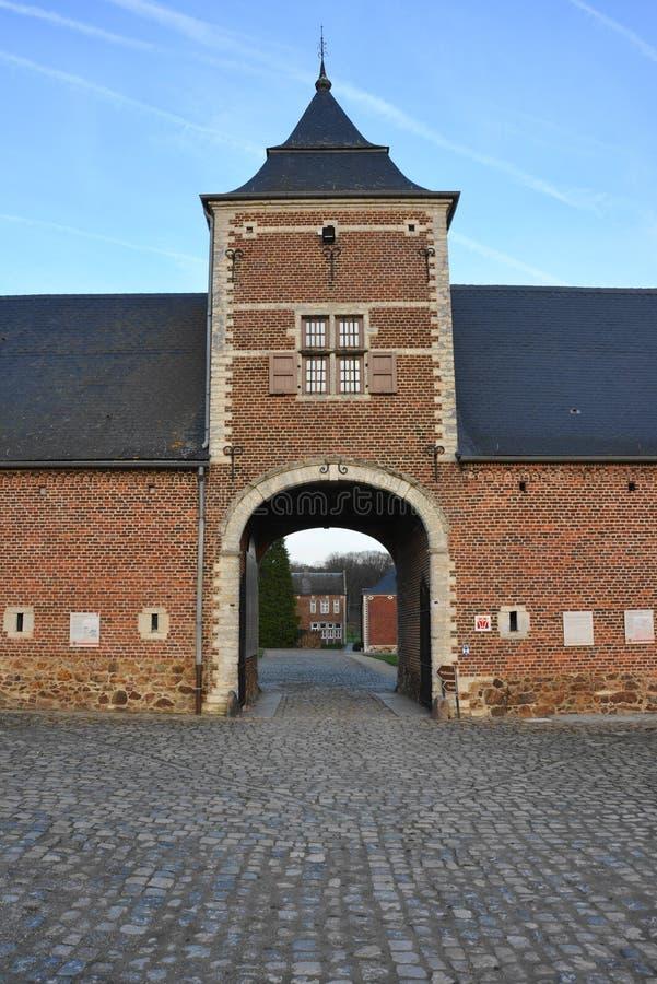 Jauchelette-Jodoigne, Bélgica em dezembro de 2015: Abbay de la Ramée foto de stock