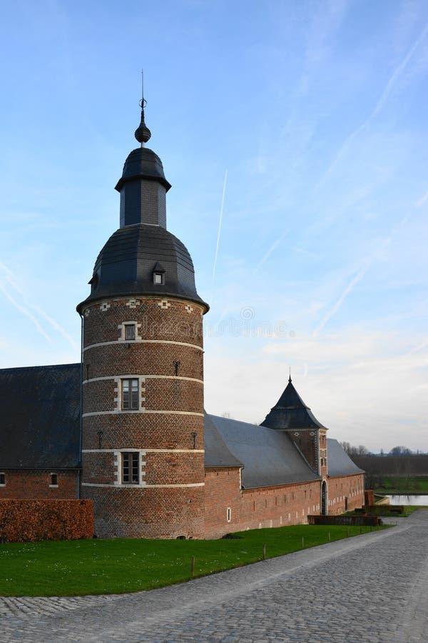 Jauchelette-Jodoigne, Belgien Dezember 2015: Abbay de la Ramée lizenzfreie stockfotografie