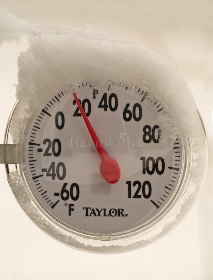 Jauge froide de la température photos stock