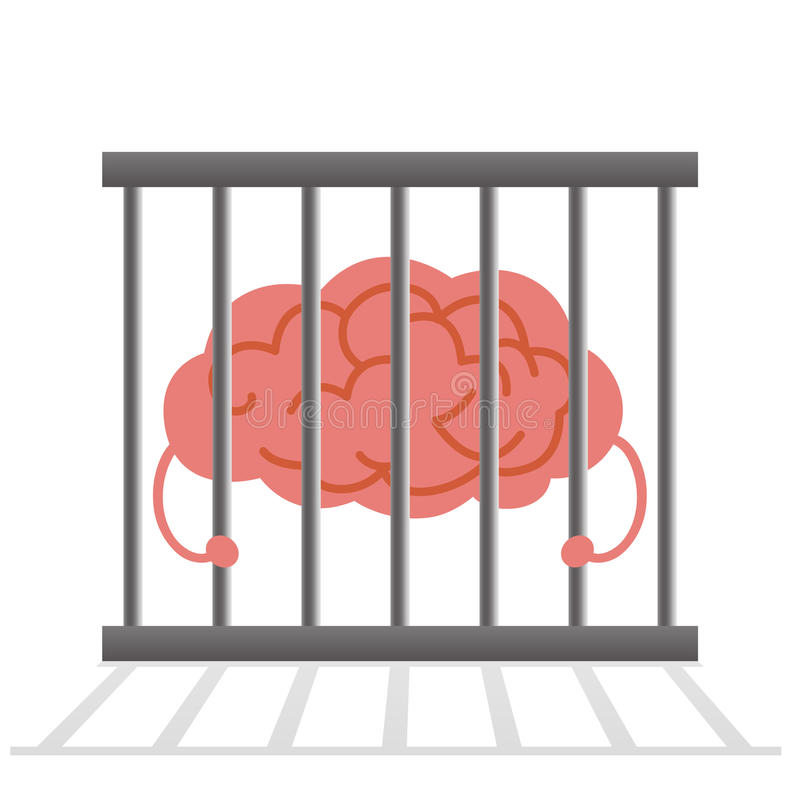 Jaula del cerebro ilustración del vector