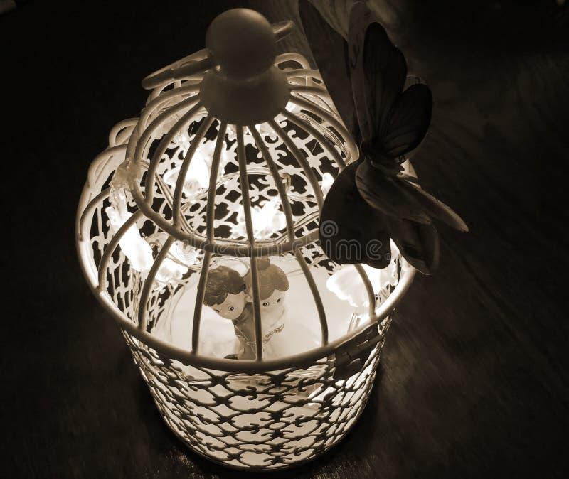 Jaula ligera - decoración de la boda fotos de archivo