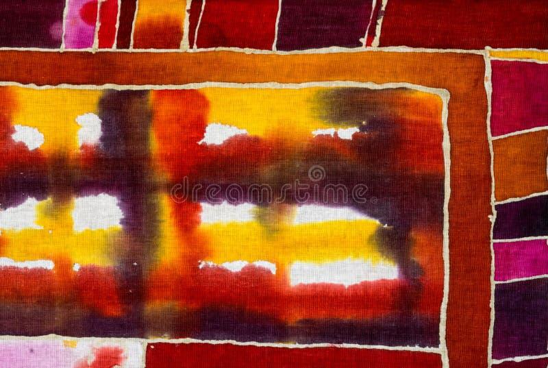 Jaulas, abstracción colorida, fragmento, batik caliente imagenes de archivo