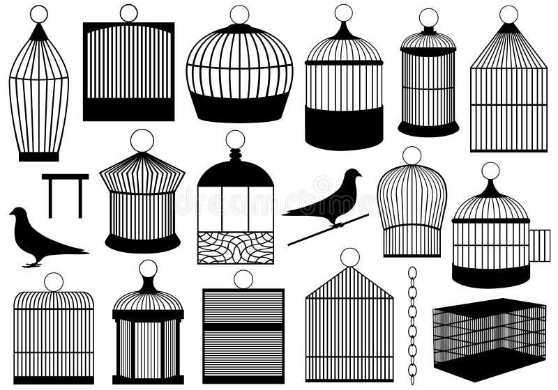 Jaulas de pájaro ilustración del vector