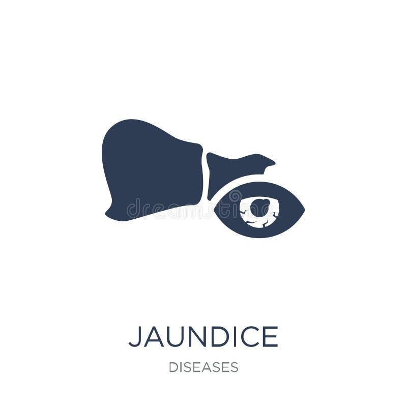 Jaundice icon. Trendy flat Jaundice icon on white backgro stock illustration