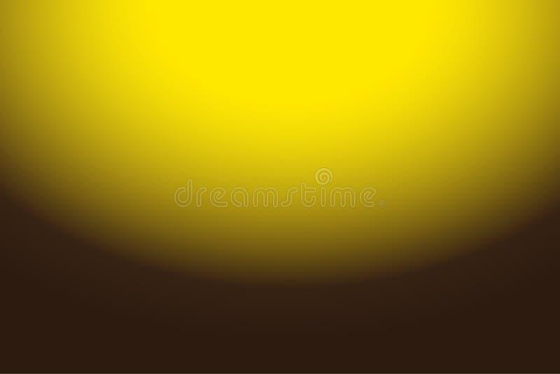 Jaune abstrait coloré au fond de gradient de Brown pour votre conception graphique images libres de droits
