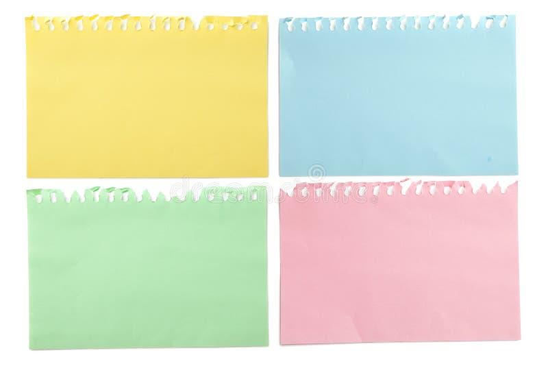 jaune collant d'ombre de circuit papier de note de découpage photo libre de droits