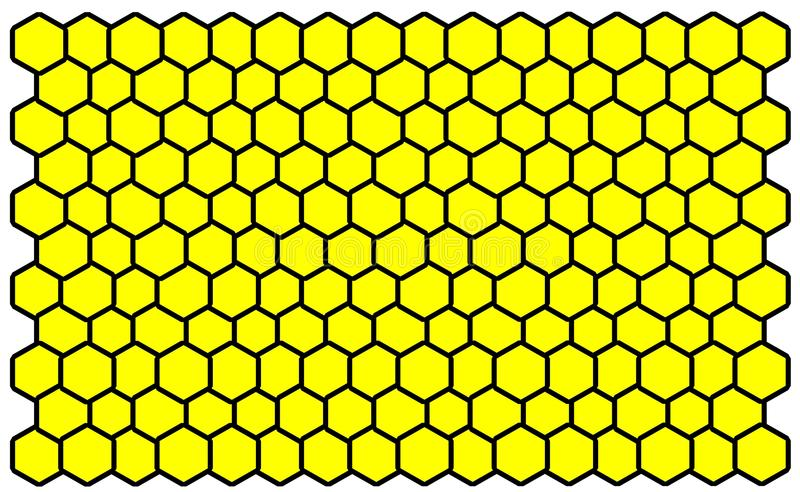 Jaune d'abeille d'élém. illustration de vecteur