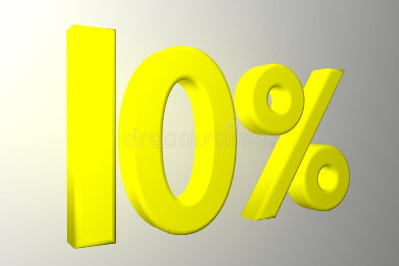 jaune 3D 10 DIX de remise photos stock