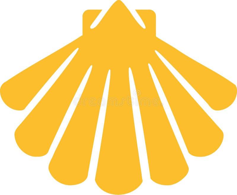Jaune d'icône de Shell illustration de vecteur