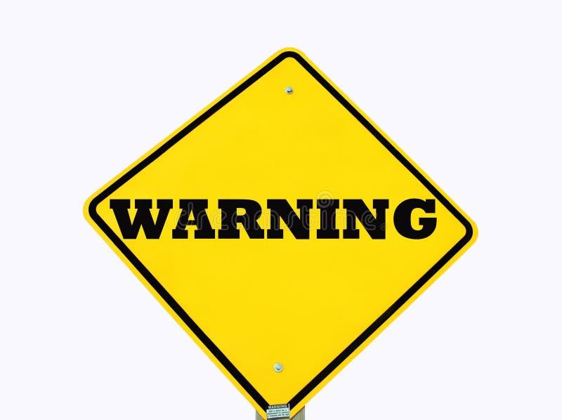 Download Jaune D'isolement D'avertissement De Signe Photo stock - Image du information, avertissement: 8667106