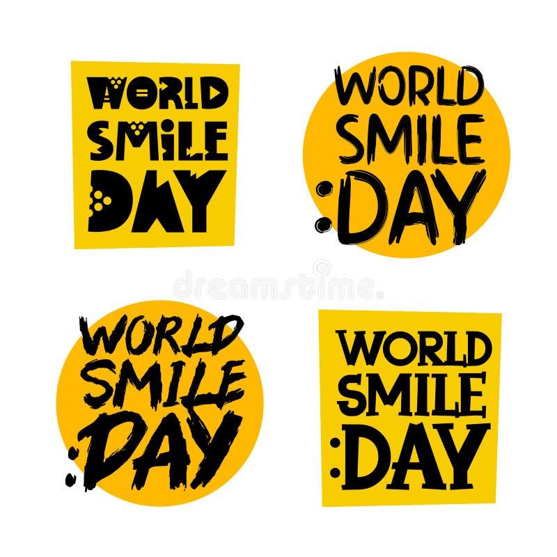 jaune d'isolement gris de collants d'ombres de fond Jour de sourire du monde illustration stock