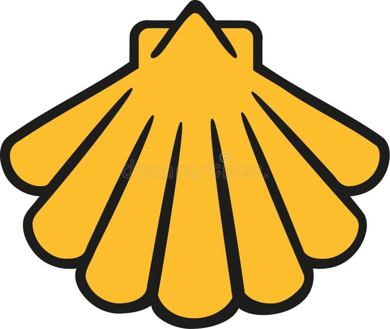Jaune de bande dessinée de Shell illustration de vecteur