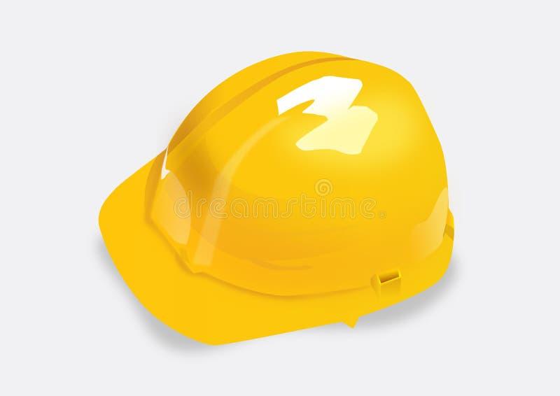 Jaune de casque illustration de vecteur