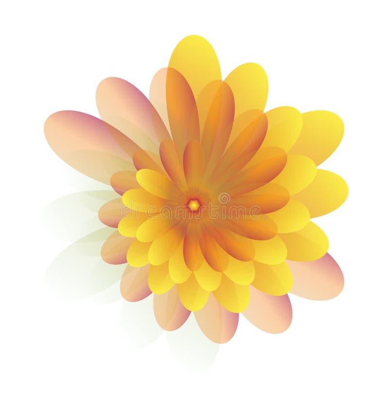 Jaune de fleurs illustration libre de droits