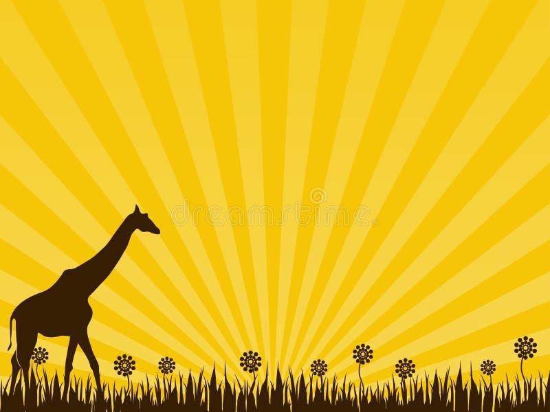 jaune de giraffe de fond illustration libre de droits