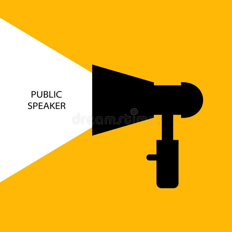 Jaune de haut-parleur illustration libre de droits
