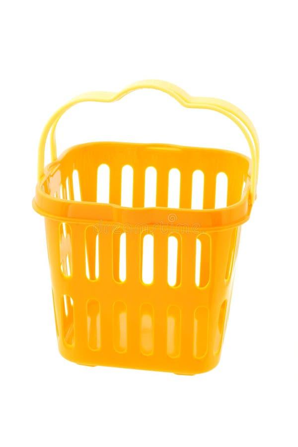 jaune de plastique de panier images stock