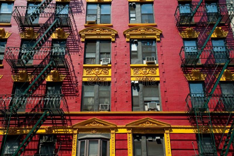 jaune de rouge de brique d'appartement image libre de droits