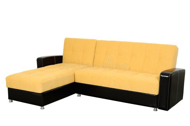 jaune de sofa images stock