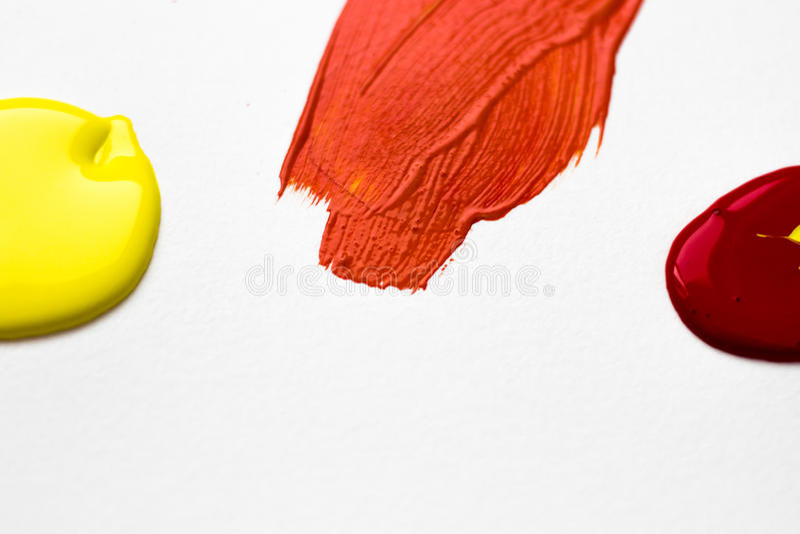 Jaune et rouge faites l'orange images libres de droits