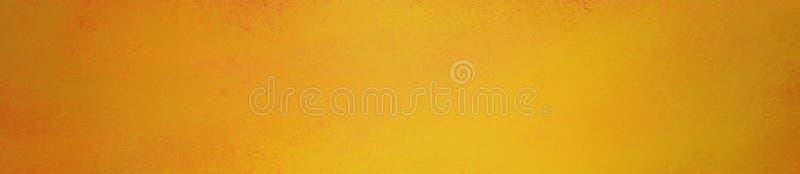 Or jaune lumineux et fond orange dans la conception panoramique de rectangle En-tête ou panneau de site Web avec la vieille textu photo libre de droits