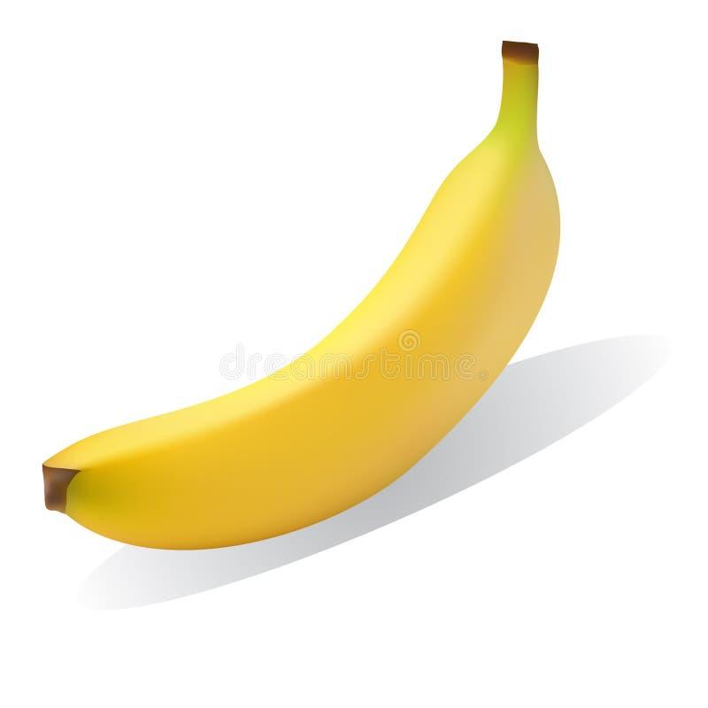jaune mûr lumineux de banane illustration stock
