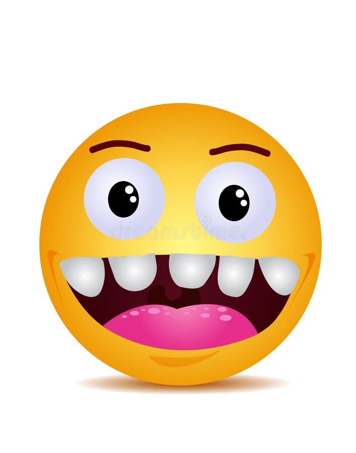 Jaune moderne riant le sourire heureux illustration de vecteur