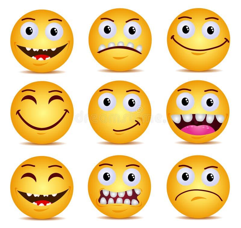 Jaune moderne riant le sourire heureux illustration stock
