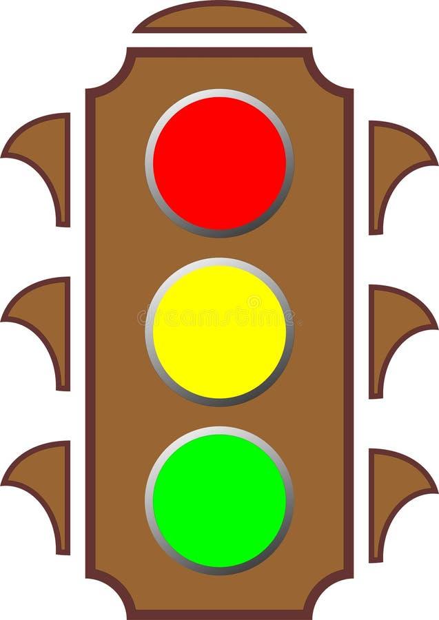 jaune rouge de circulation de feux verts photo stock