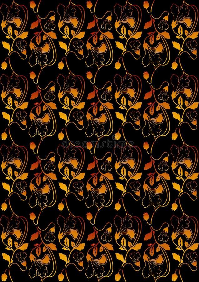 jaune rouge floral de fond photo libre de droits
