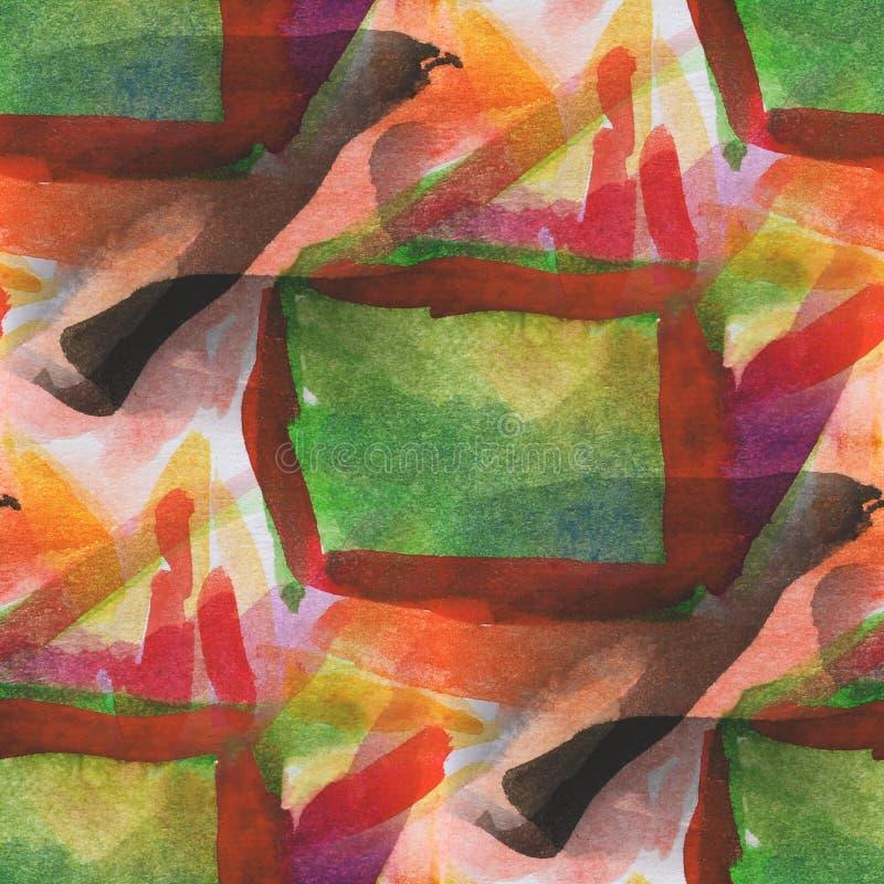 Jaune sans couture texturisé de palette, photo verte illustration stock