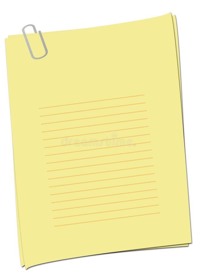 jaune simple de page vide photographie stock