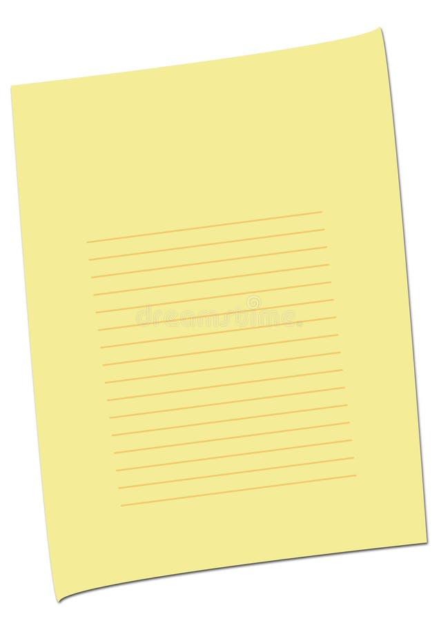 jaune simple de page vide photo libre de droits