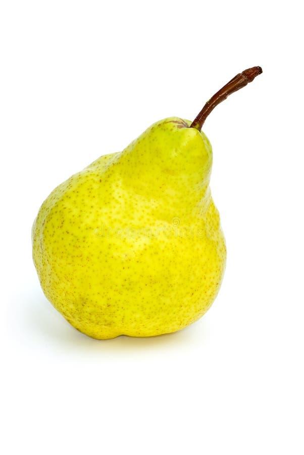 jaune simple de poire verte image stock