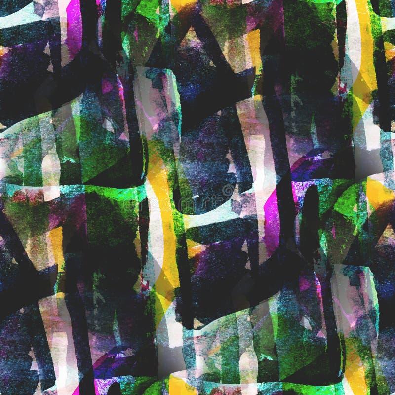Jaune texturisé, photo sans couture verte de palette illustration de vecteur