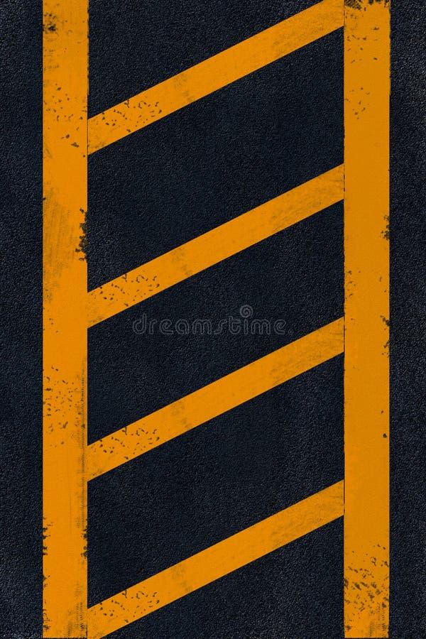Jaunissez l'inscription sur l'asphalte noir illustration libre de droits