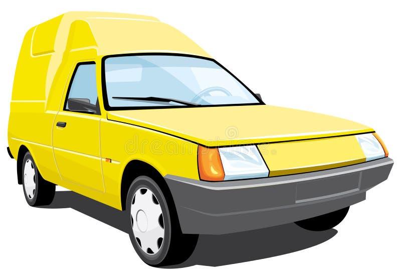 Jaunissez la camionnette de livraison illustration de vecteur