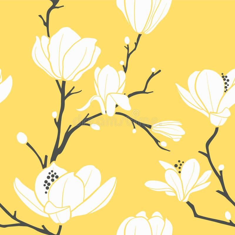 Jaunissez la configuration de magnolia illustration stock