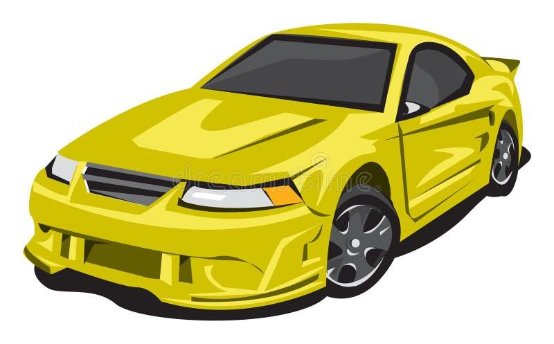 Jaunissez la voiture de sport illustration de vecteur