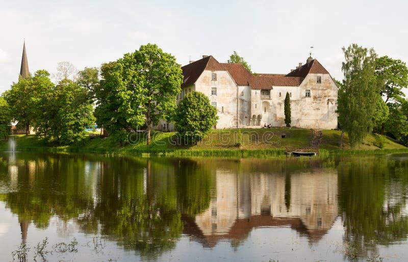Jaunpils城堡在拉脱维亚 库存图片