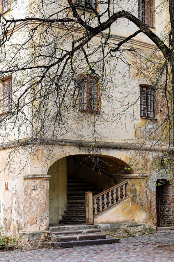 Jaunpils城堡,拉脱维亚 免版税库存照片