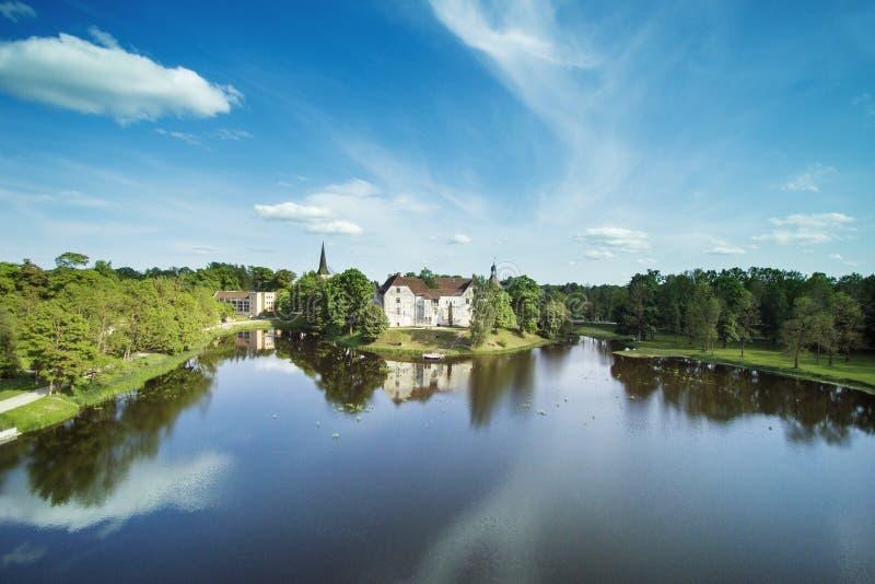 Jaunpils城堡,拉脱维亚 免版税库存图片