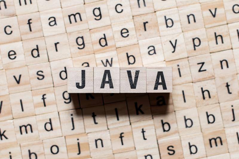 Java编程语言词概念 免版税图库摄影