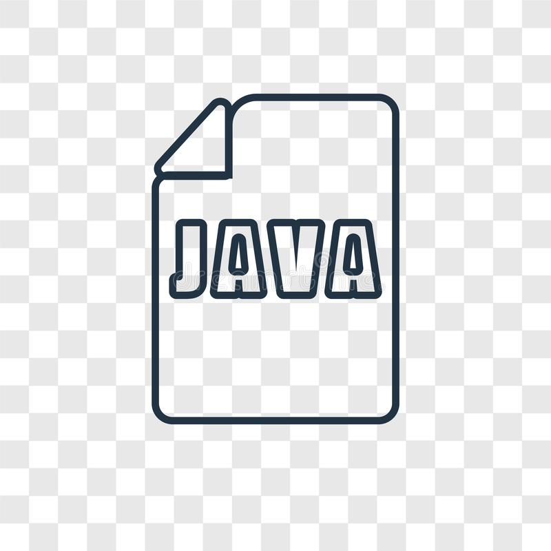 Java concept vector linear icon isolated on transparent background, Java concept transparency logo in outline style. Java concept vector linear icon isolated on stock illustration