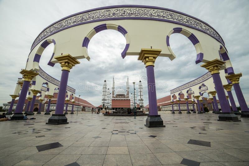 Java Great Mosque central, como la mezquita más grande de Java central, Indonesia En julio de 2018 imagenes de archivo