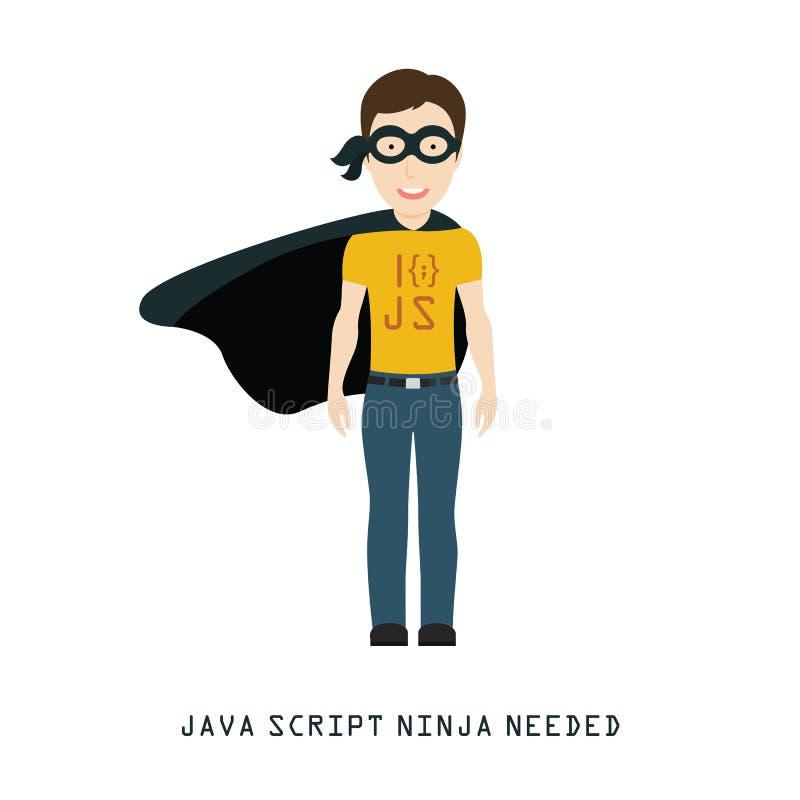 Java Script Ninja Needed ilustração stock