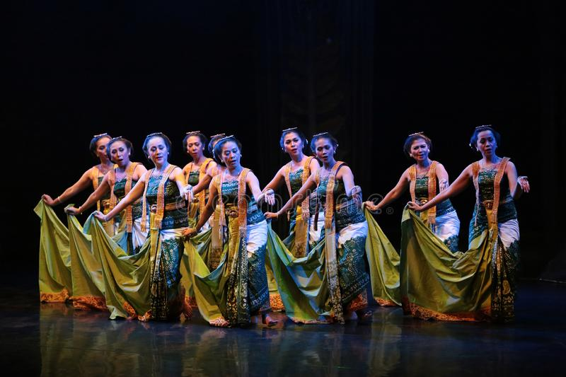 Java Traditional dance perfomance at The Jakarta Art Building stock photo