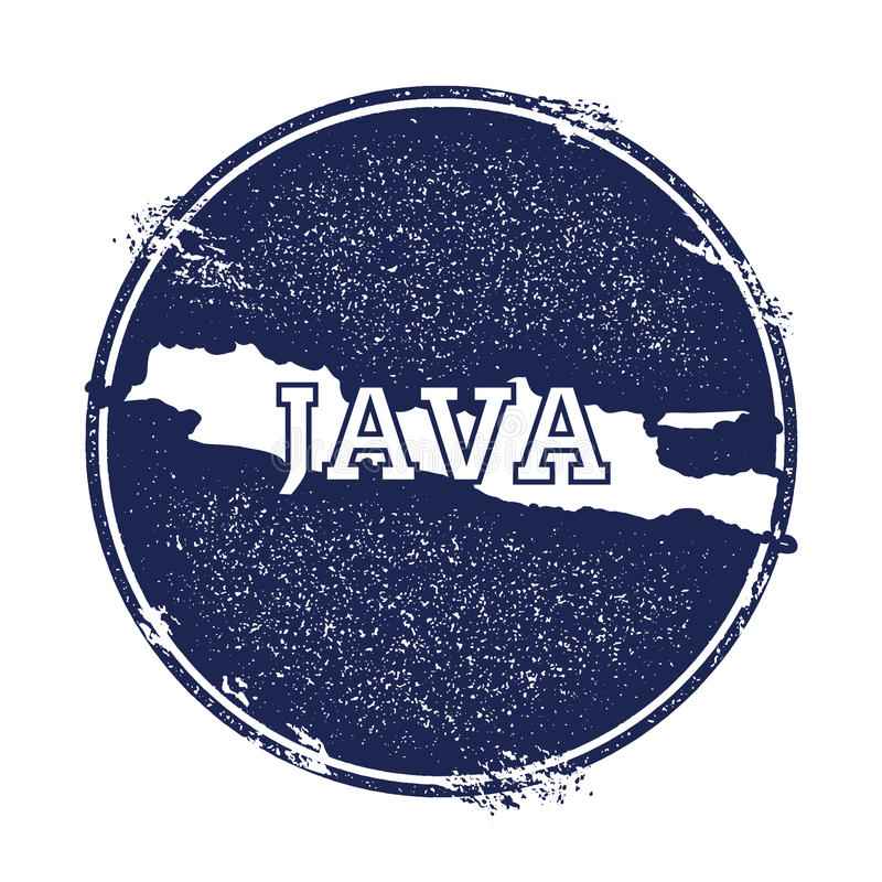 Java vector map. royalty free illustration